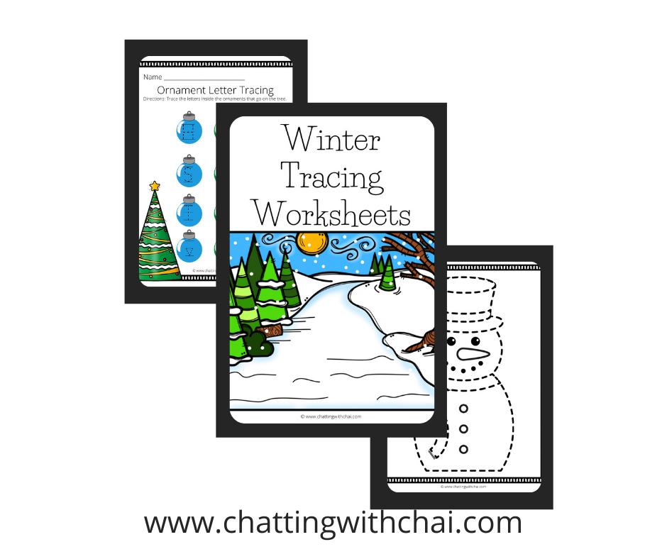 Holiday Tracing Worksheets PDF