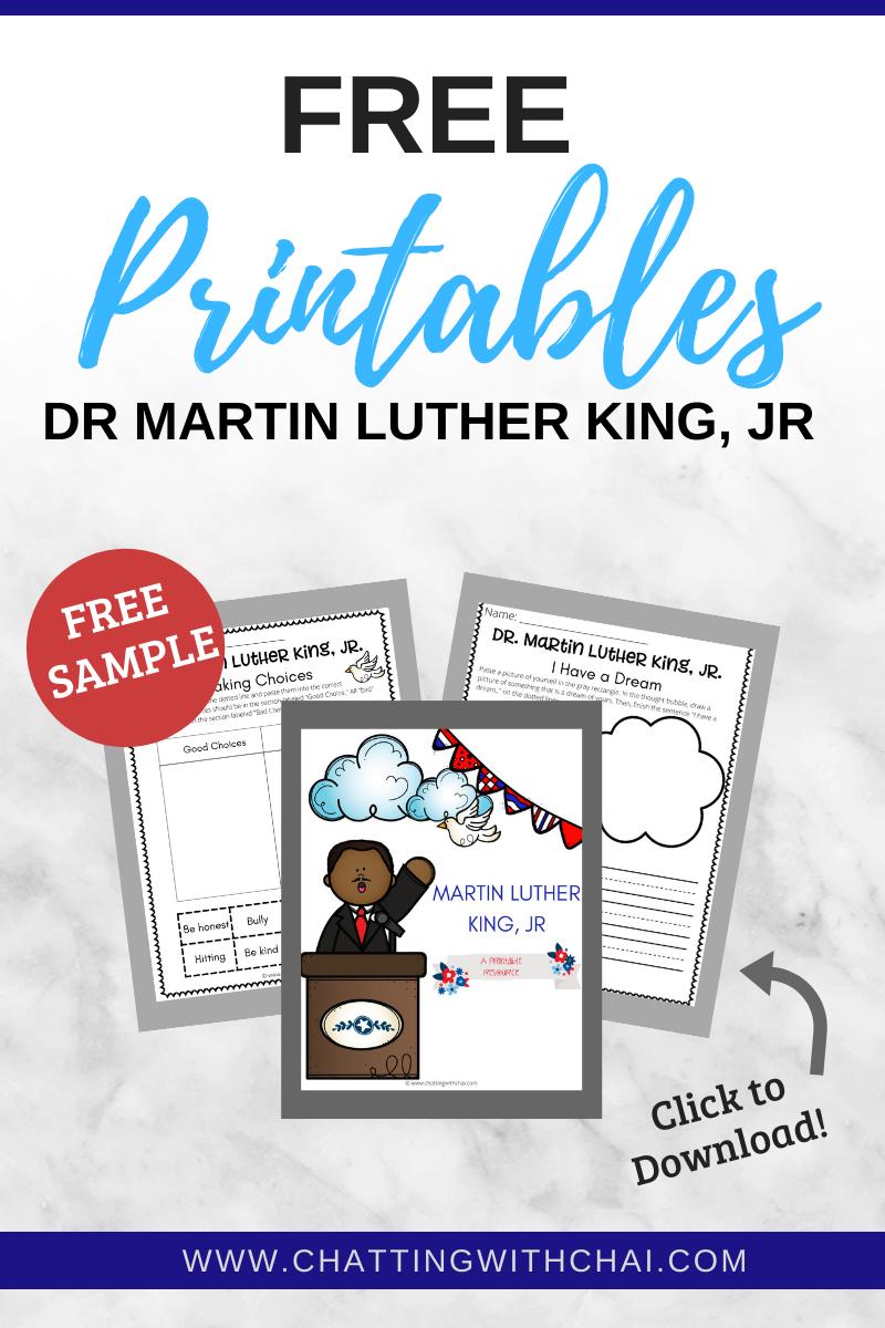 mlk worksheets pdf
